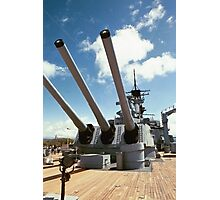 Mighty Mo's Big Guns Photographic Print