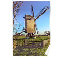 Huisekoutermolen, windmill in Huise, Belgium Poster