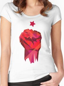 Rebel Fist Women's Fitted Scoop T-Shirt