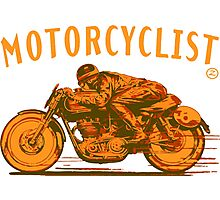 motorcyclist Photographic Print