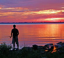 late Evening Fishing by marchello
