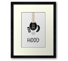 CAL BASS (W/ HOOD) Framed Print