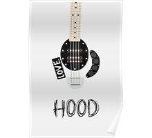 CAL BASS (W/ HOOD) Poster