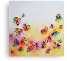 Abstract Colorful Flower Design Canvas Print