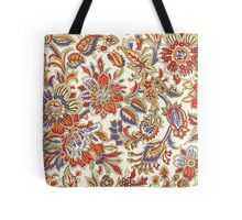 Vintage Abstract Floral Pattern Tote Bag