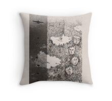 Parachuting Throw Pillow