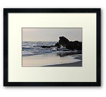 Silver Shores Framed Print
