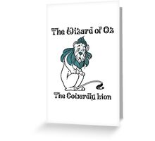Wizard of Oz Cowardly Lion Greeting Card