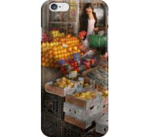 Storefront - Hoboken, NJ - Picking out fresh fruit iPhone Case/Skin