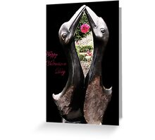 Kissing Birds With Rose (Valentines) Greeting Card