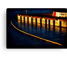 Dockland 1 Ortonized Canvas Print