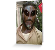 24TH Century Extraterrestrial Colonist in Pakistan Greeting Card