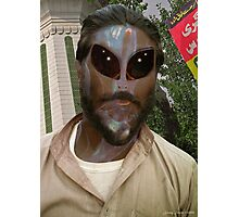 24TH Century Extraterrestrial Colonist in Pakistan Photographic Print