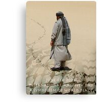 June 6TH 2008 International Kaffiyeh Day Canvas Print