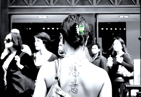 green butterfly (Selective Colour) by Umbra101