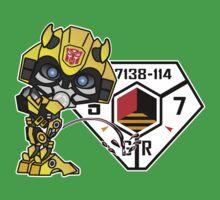 Bumblebee Peeing - Sector 7 v2 Kids Tee