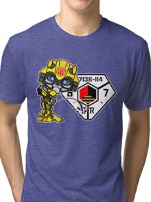 Bumblebee Peeing - Sector 7 v2 Tri-blend T-Shirt