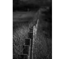 Black and White Fence Photographic Print