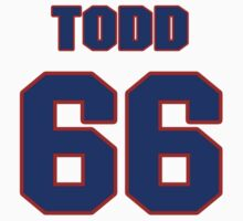 National baseball player Todd Williams jersey 66 T-Shirt