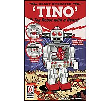 Tino the Heart Operated Toy Robot (Classic) Photographic Print