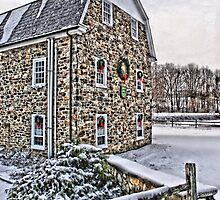 First Snow at the Mill by DJ Florek