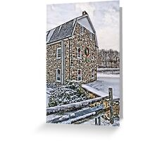 First Snow at the Mill Greeting Card