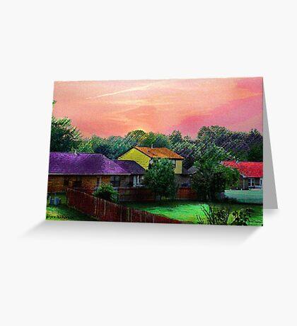 Another Neighborhood Sunset Greeting Card