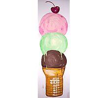 """Ice Cream Wall Mural"" Photographic Print"