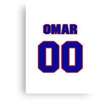 National baseball player Omar Olivares jersey a00 Canvas Print