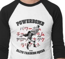 Powerbomb Elite Training Squad Men's Baseball ¾ T-Shirt