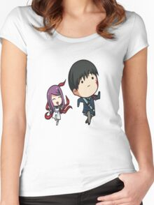 Rize and Kaneki Tokyo Ghoul Women's Fitted Scoop T-Shirt