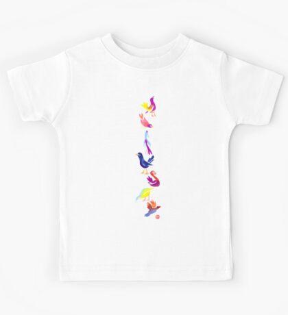 Watercolour Birds Kids Tee