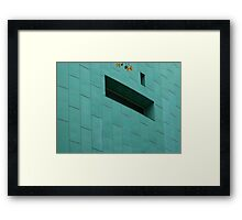 Yellow-Green Leaves on the Green Framed Print