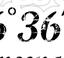 Ensenada Coordinates Vintage Black Sticker