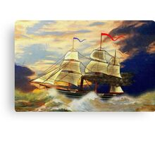 A digital painting of Paddle Steamer SS Savannah Canvas Print