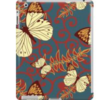 Butterflies, Insects, Swirls - Red Blue Brown  iPad Case/Skin