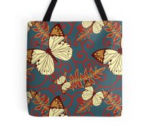 Butterflies, Insects, Swirls - Red Blue Brown  Tote Bag