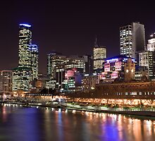 melbourne night by jonnybaker