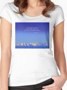 Sleeping Lady Women's Fitted Scoop T-Shirt