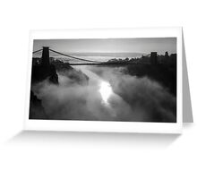 Clifton Suspension Bridge, Bristol B&W Greeting Card