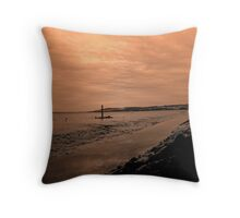 tide out Throw Pillow