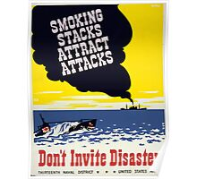 Don't Invite Disaster Poster
