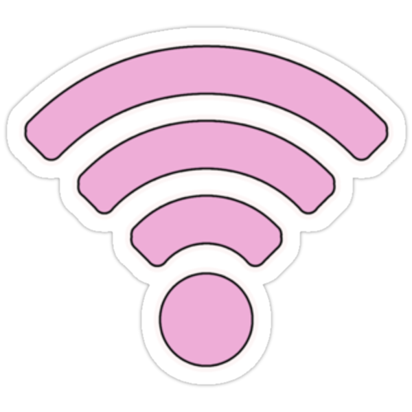 171 Pink Wifi Tumblr 187 Stickers Par Amymaynard Redbubble