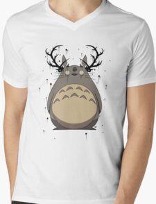 Totoro True Detective Mens V-Neck T-Shirt