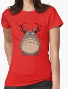Totoro True Detective Womens Fitted T-Shirt