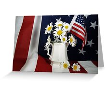 Red, White And True Greeting Card