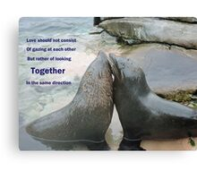 Seal Love: In the Same Direction Canvas Print