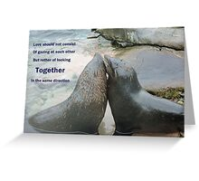 Seal Love: In the Same Direction Greeting Card