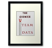 The Goonies Movie- Team Data Nerdy Framed Print