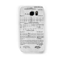 Morse Code Patent Art Samsung Galaxy Case/Skin